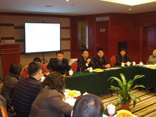 Company Chairman Mr. Huang and distributors to actively explore